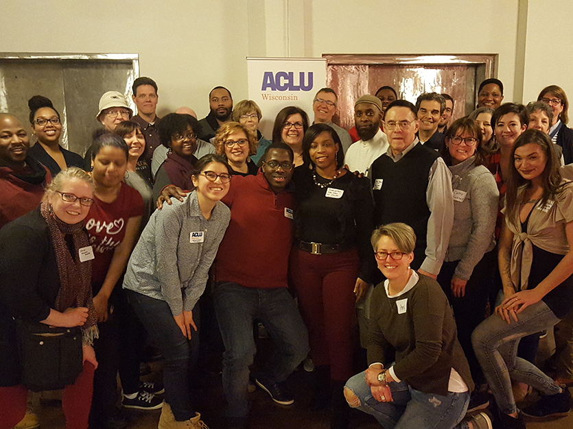 ACLU event group photo