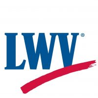 LWV (league of women voters) with red line underneath